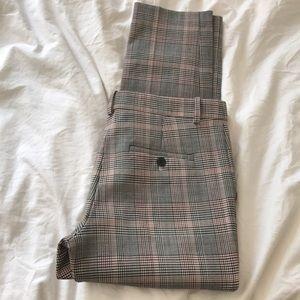 Theory Wool Plaid pants